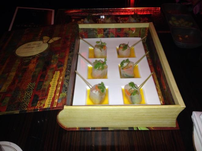 23 floors into the Las Vegas sky line, a secret book opens to reveal a host of oriental delights