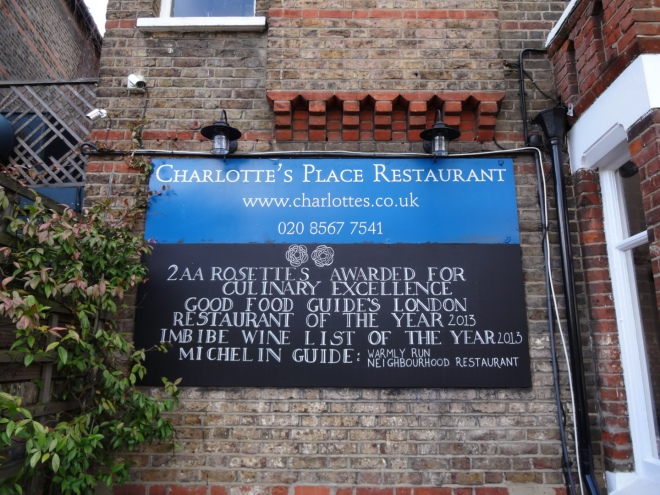 Comfortable setting, friendly welcome and exceptional seasonal ingredients at Charlotte's Place